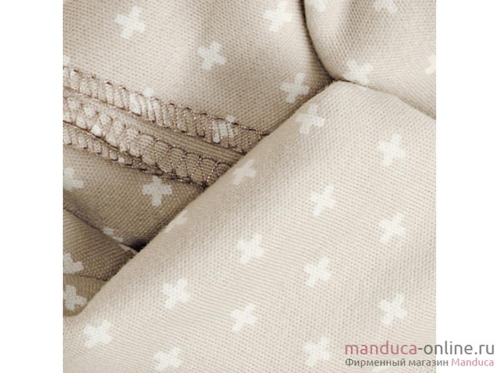 Трикотажный слинг-шарф bellybutton by manduca Sling WildCrosses sand (песочный)