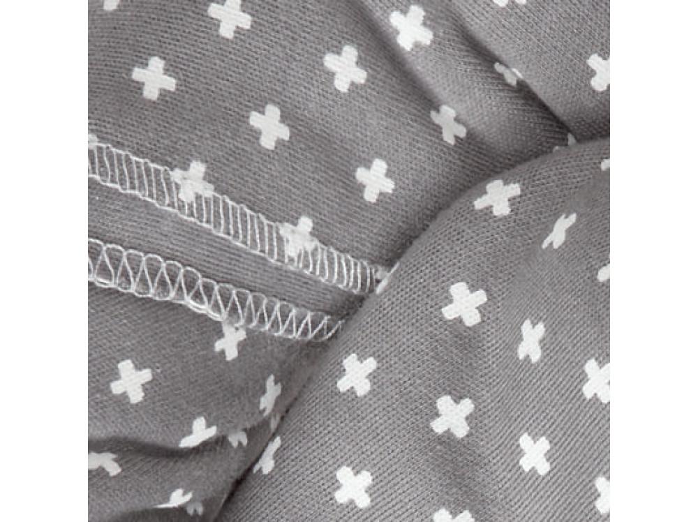 Трикотажный слинг-шарф bellybutton by manduca Sling WildCrosses grey (серый)