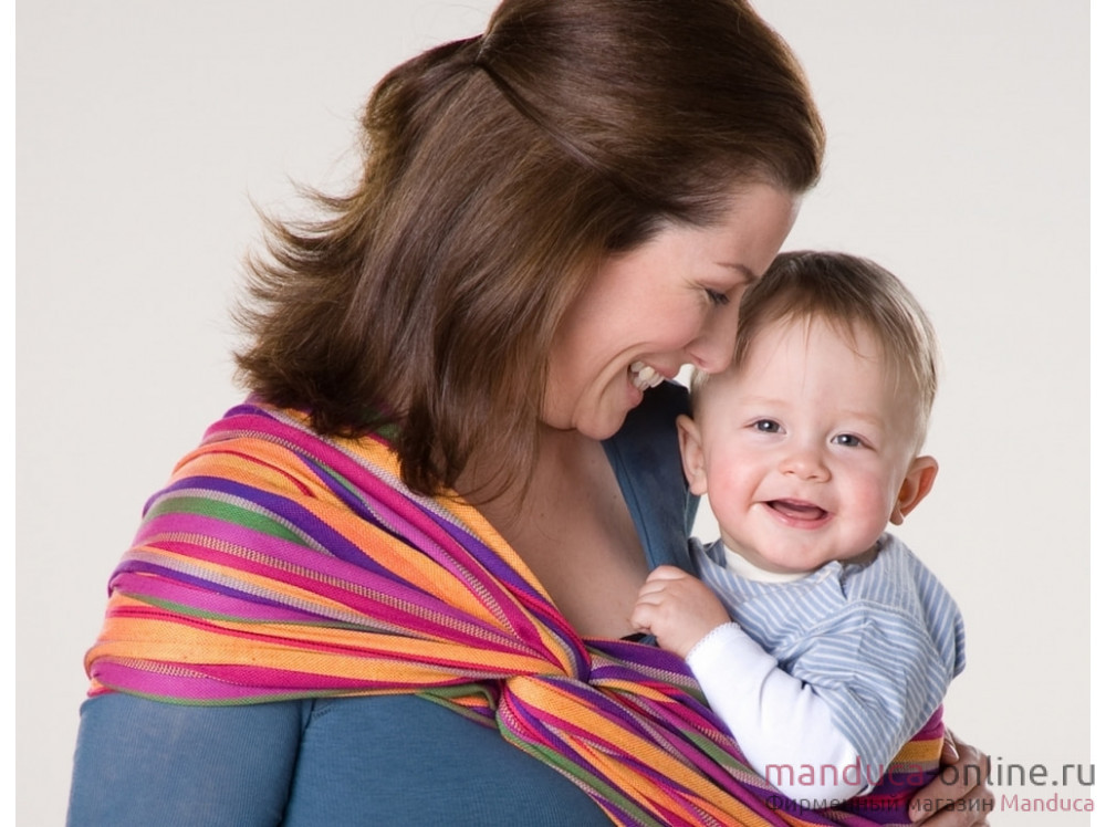 Тканый слинг-шарф MANDUCA Amazonas Lollipop