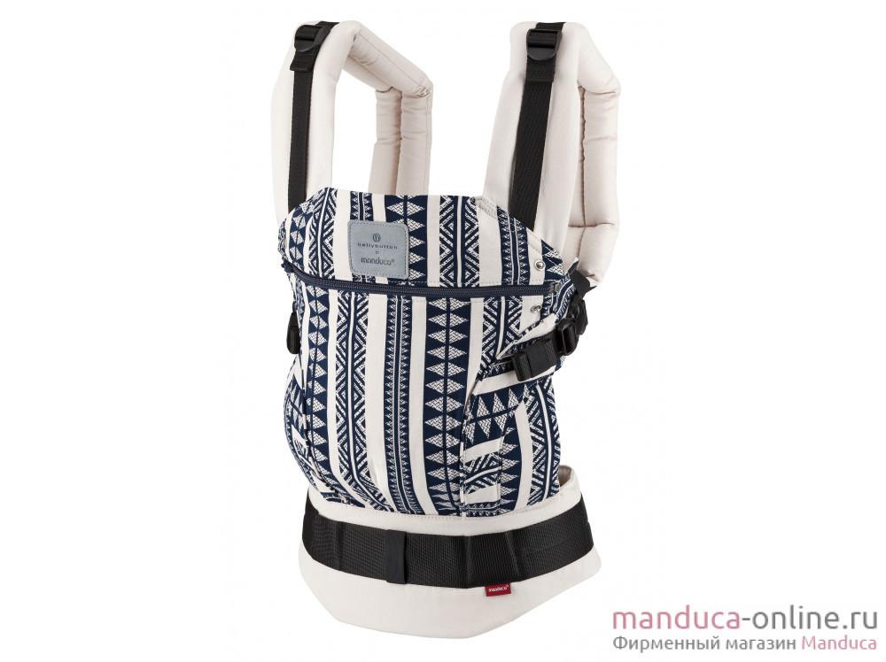 Слинг-рюкзак bellybutton by manduca First BohoBlue (Бохо синий)