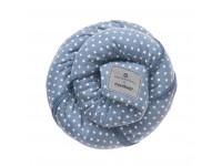 Трикотажный слинг-шарф bellybutton by manduca Sling WildCrosses blue (голубой)