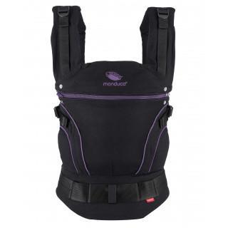 Слинг-рюкзак manduca BlackLine MidnightPurple в комплекте с накладками