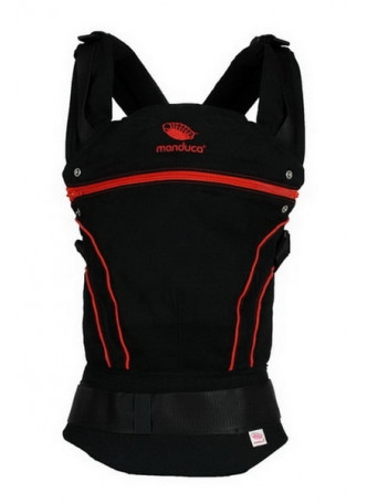 Слинг-рюкзак manduca BlackLine RadicalRed в комплекте с накладками