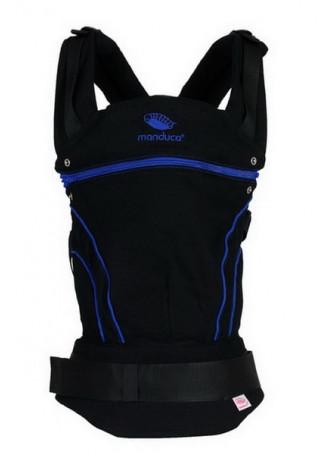 Слинг-рюкзак manduca BlackLine AbsoluteBlue в комплекте с накладками