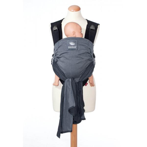 Слинг-рюкзак manduca DUO со съемным поясом grey (серый)