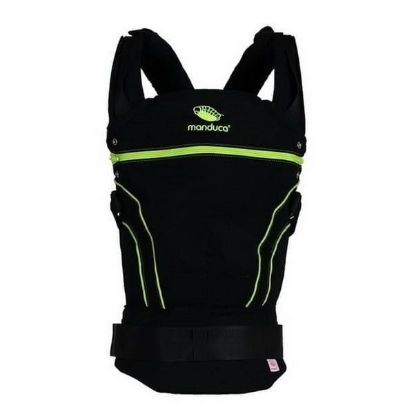 Слинг-рюкзак manduca BlackLine ScreaminGreen в комплекте с накладками